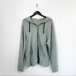 James Perse | Gray Relaxed Zip Up Hoodie